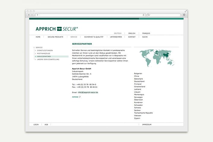 Apprich Secur Website