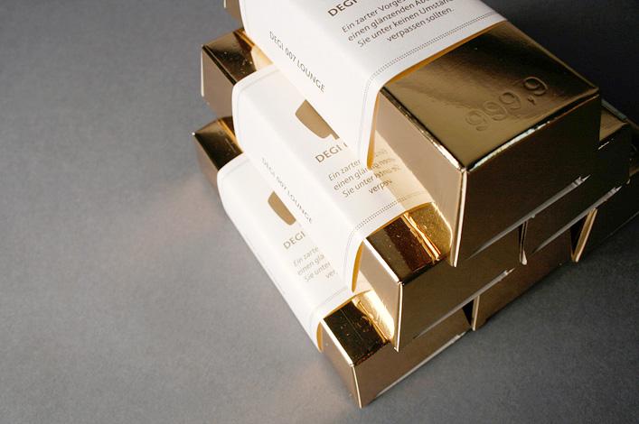 Deutsche Gesellschaft für Immobilienfonds DEGI-Lounge Mailing Stufe 2 Goldbarren // Foto: ©Agentur Kappa GmbH