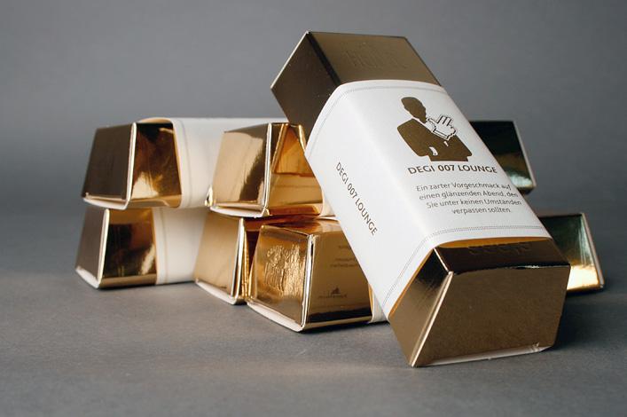 Deutsche Gesellschaft für ImmobilienfondsDEGI-Lounge Mailing Stufe 2 Goldbarren // Foto: ©Agentur Kappa GmbH