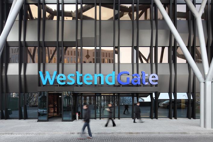 DEGI Deutsche Gesellschaft für Immobilienfonds WestendGate Eingang // Foto: ©RFR