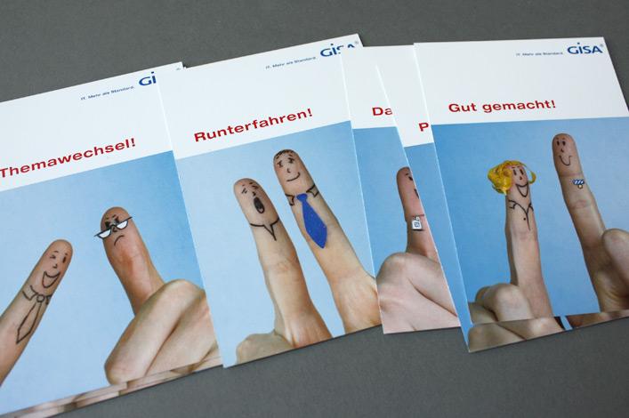 GISA Mitarbeiterkampagne Karten