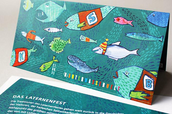 KSB AG // Grafik Laternenfest // Einladungskarte