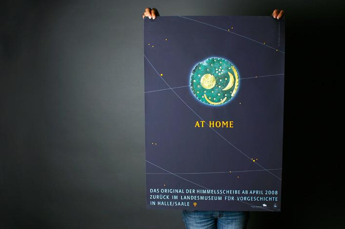 Landesmuseum Halle Ausstellung Himmelsscheibe Plakat