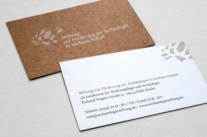 Stiftung zur Förderung der Archäologie in Sachsen-Anhalt Visitenkarten