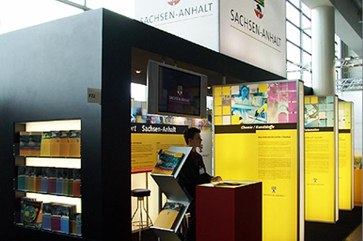 Ministerium für Wirtschaft und Arbeit des Landes Sachsen-Anhalt // Messegrafik Industriemesse Hannover 2005
