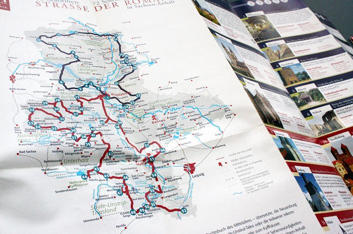 Landesmarketinggesellschaft Sachsen-Anhalt // Karte Straße der Romanik