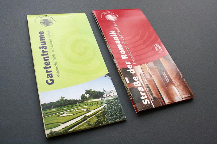Landesmarketinggesellschaft Sachsen-Anhalt // Karte Gartenträume // Karte Straße der Romanik