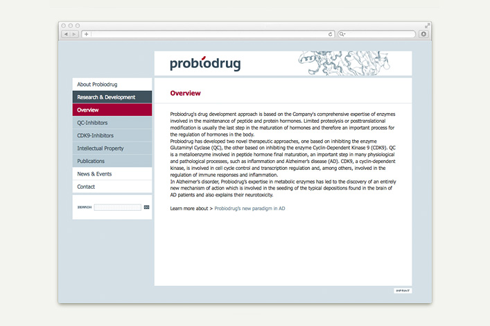 Probiodrug AG Website