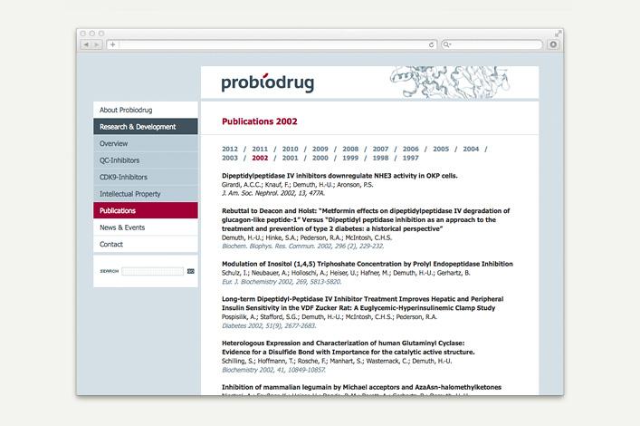 Probiodrug AG Website