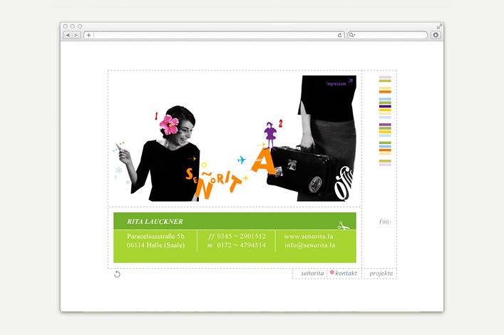 Señorita Rita Lauckner Website vor 2012 Kontakt