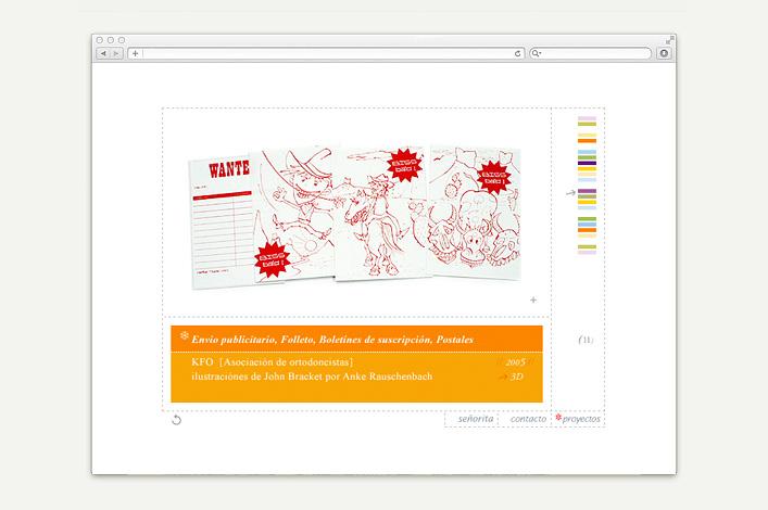 Señorita Rita Lauckner Website vor 2012 Projekte