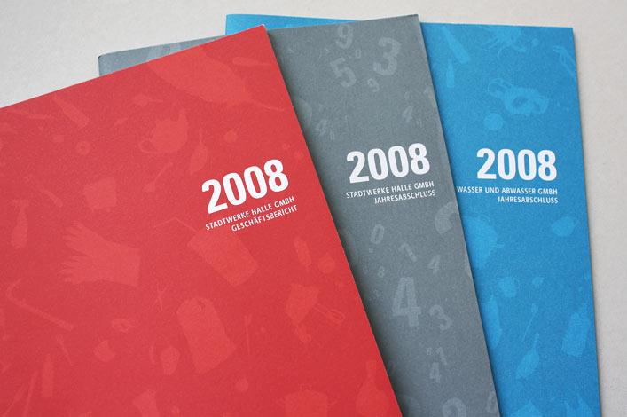 Stadtwerke Halle Geschäftsbericht 2008 Titel
