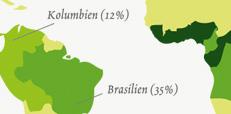 Karte Kaffeeanbaugebiete