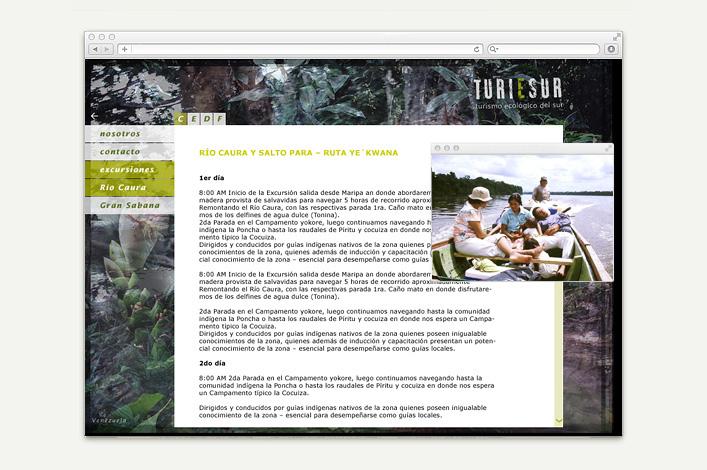 Turiesur Venezuela - Turismo ecológico del sur - Website
